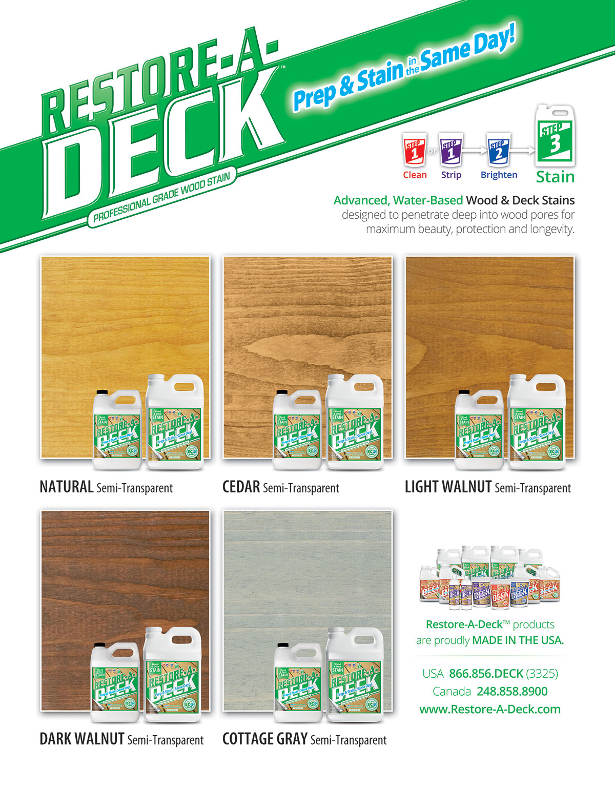 Restore-A-Deck Wood Stain Samples