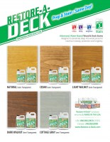 Restore-A-Deck Wood Stain 5 Gallons and Stripper/Brightener Combo Kit