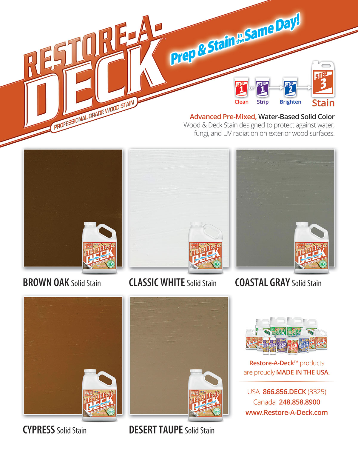 Color Chart RAD Solid Stain