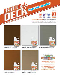 RAD Solid Stain Small Color Chart