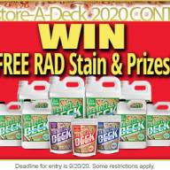 Restore-A-Deck Prep and Stain Contest 2020
